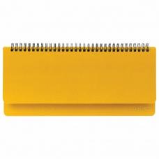 Планинг недатированный (305x140 мм) BRAUBERG Select, балакрон, желтый, 111696