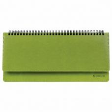 Планинг недатированный (305x140 мм) BRAUBERG Rainbow, кожзам, зеленый, 111702