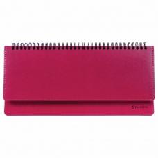 Планинг недатированный (305x140 мм) BRAUBERG Rainbow, кожзам, розовый, 111699