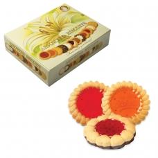 Печенье БИСКОТТИ Santa Bakery, ассорти 12 видов, сдобное, 750 г, картонная коробка
