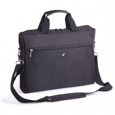 Сумка деловая BRAUBERG Tempo, 30х40х4 см, отделение для планшета и ноутбука 15,6, ткань, черная, 240453