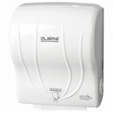 Диспенсер для полотенец в рулонах LAIMA PROFESSIONAL ORIGINAL Система Н1, механический, с автоотрезом листа, ABS-пластик, 605764