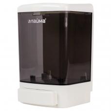 Диспенсер для жидкого мыла ЛАЙМА, наливной, 1 л, ABS, белый тонированный, 603920
