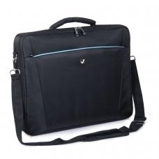 Сумка деловая BRAUBERG Sidney, 34х44х6 см, отделение для планшета и ноутбука 17,3, ткань, черная, 240449