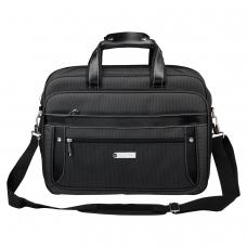 Сумка деловая BRAUBERG Carbon, 31х41х13 см, отделение для планшета и ноутбука 15,6, ткань, графит, 240509
