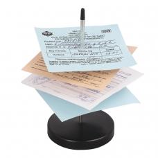 Игла настольная для чеков и билетов, 13 см, металлическая подставка, BRAUBERG, 237000, 5285