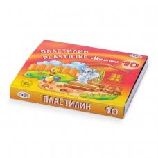 Пластилин классический ГАММА Мультики, 10 цветов, 200 г, со стеком, картонная упаковка, 280017, 281017