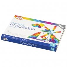 Пластилин классический ГАММА Классический, 16 цветов, 320 г, со стеком, картонная упаковка, 281034