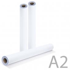 Рулон для плоттера, 420 мм х 175 м х втулка 76 мм, 80 г/м2, белизна CIE 162%, диаметр 170 мм, BRAUBERG, 110453