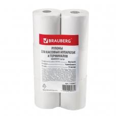 Рулоны для кассовых аппаратов и терминалов, термобумага 80х54х18 54 м, комплект 6 шт., BRAUBERG, 110881