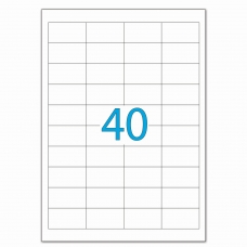 Этикетка самоклеящаяся 48,5х25,4 мм, 40 этикеток, белая, 70 г/м2, 50 л., LOMOND, 2100195, 2100195