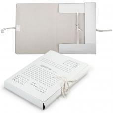 Папка для бумаг с завязками картонная, 40 мм, гарантированная плотность 380 г/м2, 4 завязки, до 350 листов, 122035