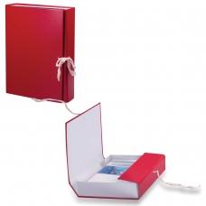 Короб архивный, бумвинил, 3,5 см, 2 х/б завязки, цвет ассорти, до 300 л., 122037