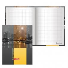 Блокнот 7БЦ, А6, 80 л., обложка ламинированная, выборочный лак, клетка, BRAUBERG, Ночной город, 110х147 мм, 123246