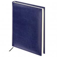 Ежедневник BRAUBERG недатированный, А5, 138х213 мм, Imperial, под гладкую кожу, 160 л., темно-синий, кремовый блок, 123413