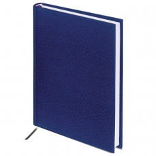 Ежедневник BRAUBERG недатированный, А5, 138х213 мм, Profile, под фактурную кожу, 160 л., синий, 123426
