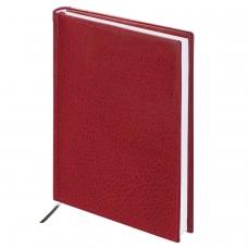 Ежедневник BRAUBERG недатированный, А5, 138х213 мм, Profile, под фактурную кожу, 160 л., бордовый, 123427