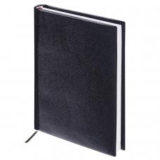 Ежедневник BRAUBERG недатированный, А5, 138х213 мм, Select, под зернистую кожу, 160 л., черный, 123429