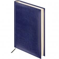 Ежедневник BRAUBERG недатированный, А6, 100х150 мм, Imperial, под гладкую кожу, 160 л., темно-синий, кремовый блок, 124984