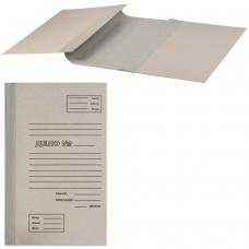 Папка архивная для переплета, 100 мм, без клапанов, переплетный картон, корешок - бумвинил
