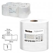 Полотенца бумажные с центральной вытяжкой VEIRO Система M2, комплект 6 шт., Comfort, 200 м, белые, KP210, КР210