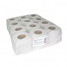 Бумага туалетная бытовая, спайка 12 шт. 12 рулонов х 44 м, СЕРАЯ, на втулке эконом