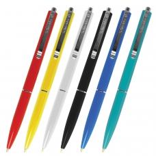 Ручка шариковая автоматическая SCHNEIDER К15, СИНЯЯ, корпус ассорти, узел 1 мм, линия письма 0,5 мм, 3080