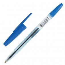Ручка шариковая масляная СТАММ Офис, СИНЯЯ, корпус тонированный синий, узел 1,2 мм, линия письма 1 мм, ОФ999