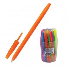 Ручка шариковая СТАММ Оптима, СИНЯЯ, корпус неоновый ассорти, узел 1,2 мм, линия письма 0,7 мм, РО10