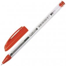 Ручка шариковая масляная BRAUBERG Rite-Oil, КРАСНАЯ, корпус прозрачный, узел 0,7 мм, линия письма 0,35 мм, OBP245