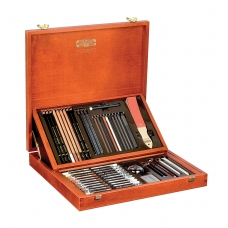 Набор художественный KOH-I-NOOR Gioconda, 52 предмета, деревянный ящик, 8896000001DK