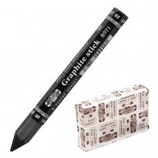 Карандаш чернографитный утолщенный KOH-I-NOOR, 1 шт., Graphite stick, без дерева, 2B, грифель 10,5 мм, картонная упаковка, 897102B005KK