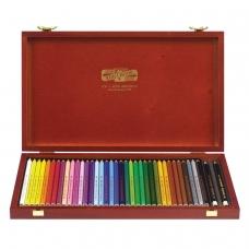 Карандаши цветные KOH-I-NOOR Polycolor, 36 цветов, грифель 3,8 мм, заточенные, деревянный ящик, 3895036001DK