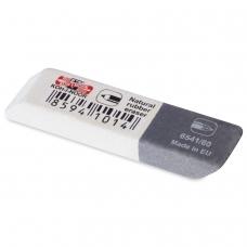 Резинка стирательная KOH-I-NOOR, прямоугольная, скошенные углы, 50х13х7 мм, двухцветная, картонный дисплей, 6541060007KDRU