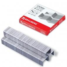 Скобы для степлера BRAUBERG № 23/10, 1000 штук, в картонной коробке, до 50 листов, 221163