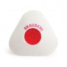 Резинка стирательная BRAUBERG Energy, треугольная, пластиковый держатель, 10х45х45 мм, белая, 222473