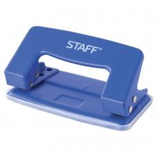 Дырокол STAFF, металлический, на 10 листов, без линейки, синий, 224648