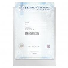 Папка-файл для медицинского полиса, 223х158 мм, без отверстий, 0,12 мм, ДПС, 3127