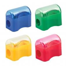 Точилка ПИФАГОР с контейнером, пластиковая, Сундучок, цвет корпуса ассорти, 226938
