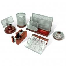 Набор настольный GALANT Wood&Metal, 6 предметов красное дерево, никелированный металл, 230876
