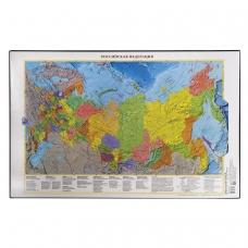 Коврик-подкладка настольный для письма, с картой России, 380х590 мм, ДПС, 2129.Р