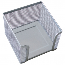 Подставка для бумажного блока BRAUBERG Germanium металлическая, 78*105*105 мм, серебристая, 231945