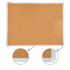 Доска пробковая BRAUBERG для объявлений, 90х120 см, алюминиевая рамка, 236445
