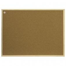 Доска пробковая 100x200 см, коричневая рамка из МДФ, OFFICE, 2х3 Польша, TC1020