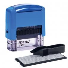 Штамп самонаборный, 3-строчный, оттиск 38х14 мм, синий, без рамки, TRODAT IDEAL 4911 P2, корпус синий, касса, 125426