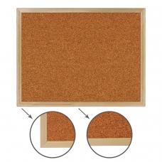 Доска пробковая для объявлений 45х60 см, деревянная рамка, BRAUBERG, 236859