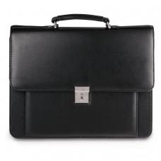 Портфель Проект, 38х28,5х10 см, искусственная кожа, черный, 200
