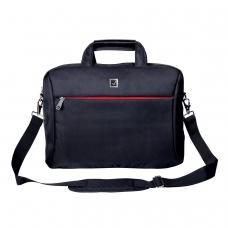 Сумка деловая BRAUBERG Control 2, 32х41х10 см, отделение для планшета и ноутбука 15,6, ткань, черная, 240397