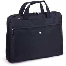 Сумка деловая для офиса и учебы BRAUBERG Chance, отделение для планшета и ноутбука 13,3, 25х35х4 см, ткань,черная, 240455