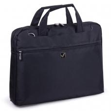 Сумка деловая для офиса и учебы BRAUBERG Chance, отделение для планшета и ноутбука 15,6, 30х40х4 см, ткань, черная, 240458